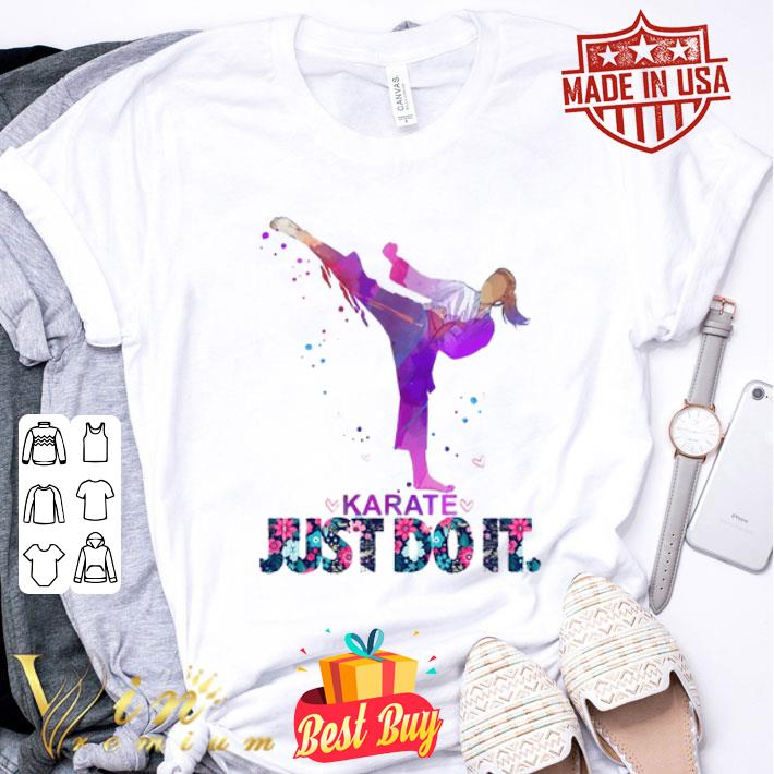 Nike Karate Just Do It Flowers shirt