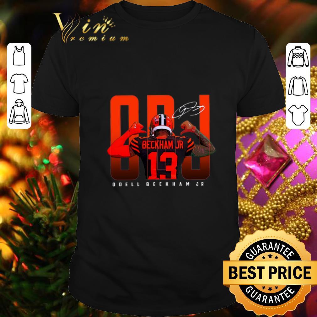 - OBJ Odell Beckham Jr. 13 signature Cleveland Browns shirt