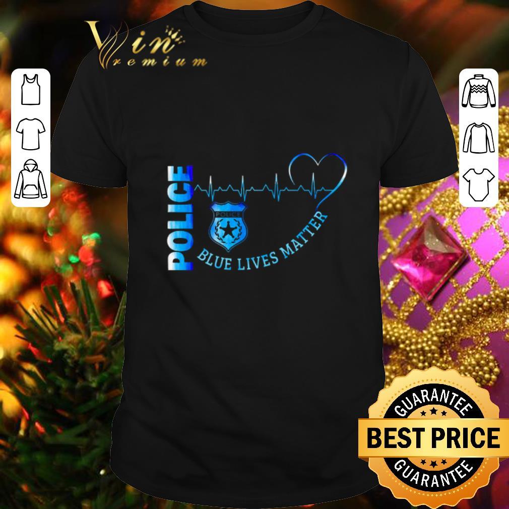 Police Blue Lives Matter Heartbeat shirt 1