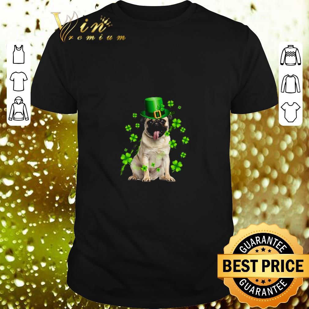 - Pug dog St Patrick's Day Four-leaf clover shirt