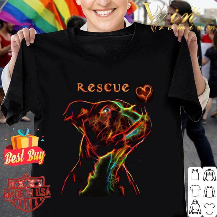 - Rescue Pitbull Love Colors shirt