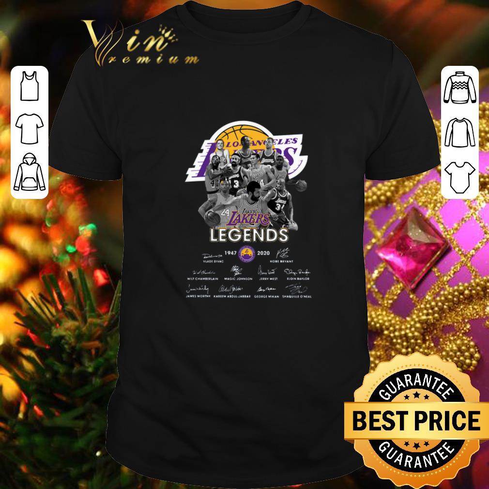 - Rip Kobe Bryant Los Angeles Lakers Legends 1947 2020 Signatures shirt