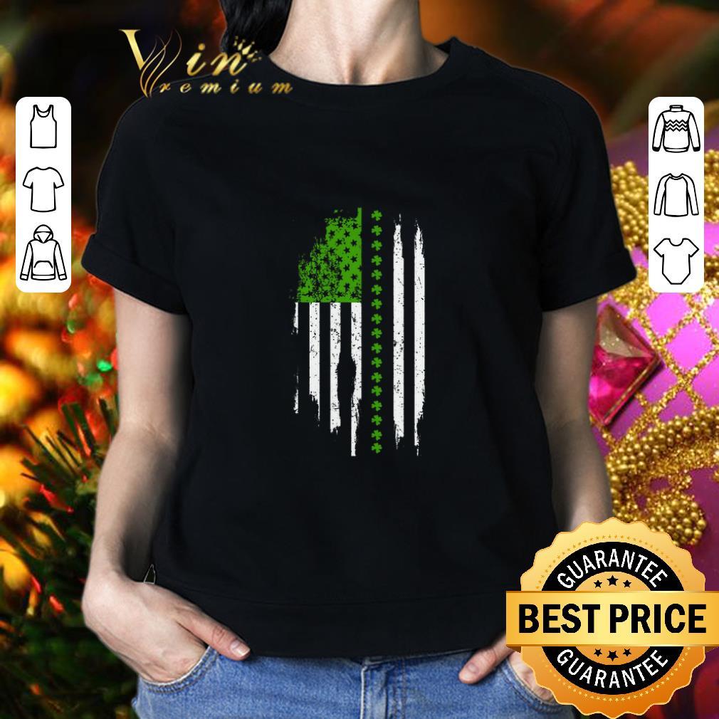 - Saint Patrick's Day American Flag shirt