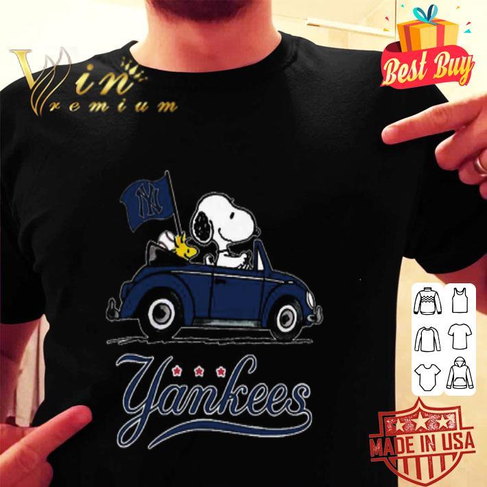 Snoopy Driving Volkswagen New York Yankees shirt
