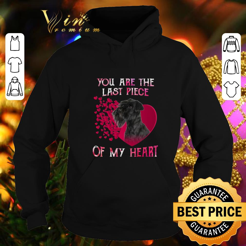 Standard Schnauzer you are the last piece of my heart Valentine shirt