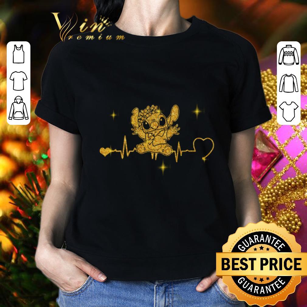 - Stitch Heartbeat Gold Diamond shirt