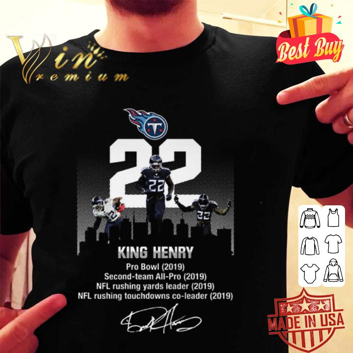 - Tennessee Titans King Henry Pro Bowl 2019 Second team signature shirt