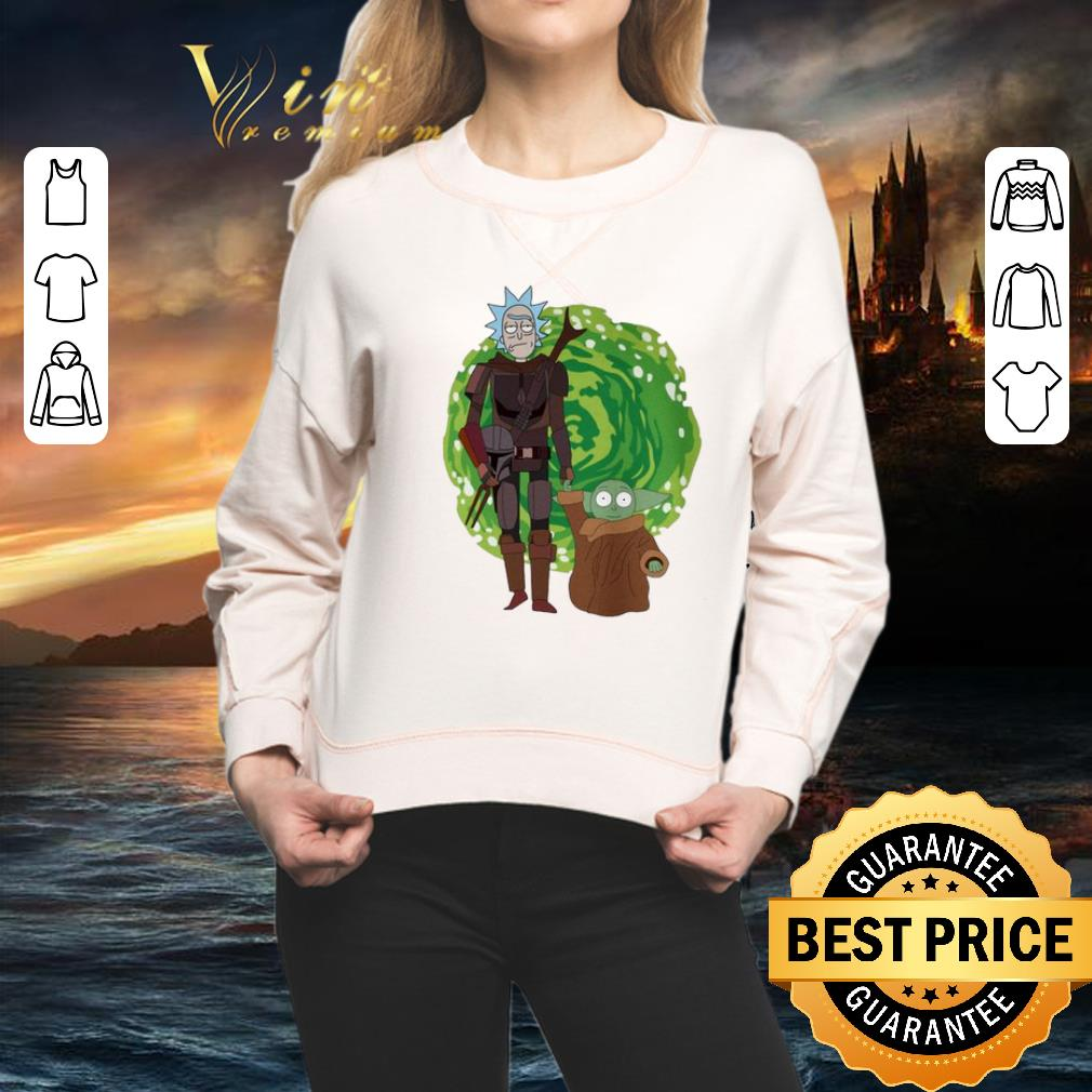 - The Mandalorian and Baby Yoda Crossover Rick and Morty The Child shirt