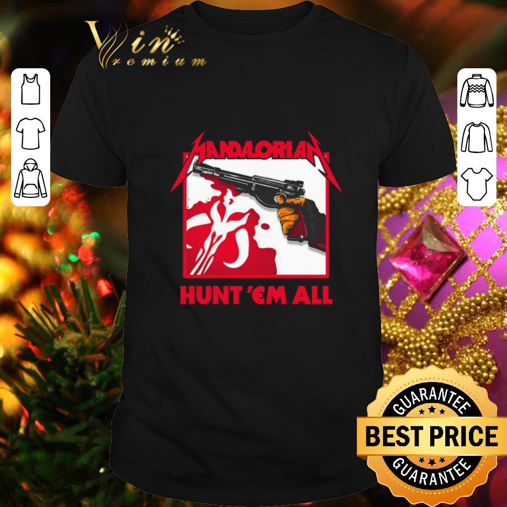 - The Mandalorian logo hunt 'em all Star Wars shirt