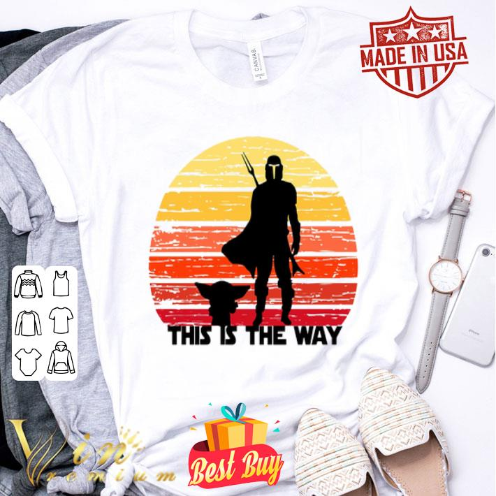 - The Mandalorian this is the way sunset shirt