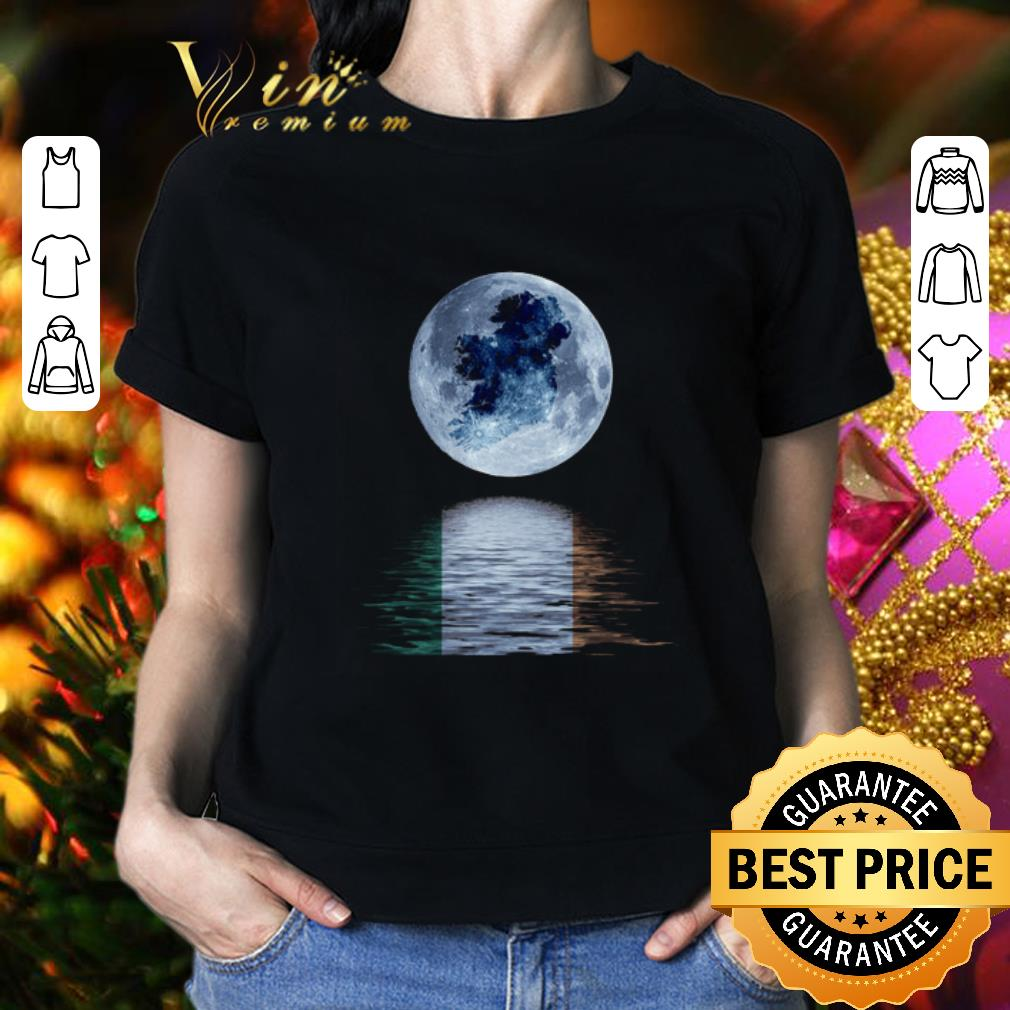 - The moon reflection water mirror Ireland flag St Patrick's day shirt
