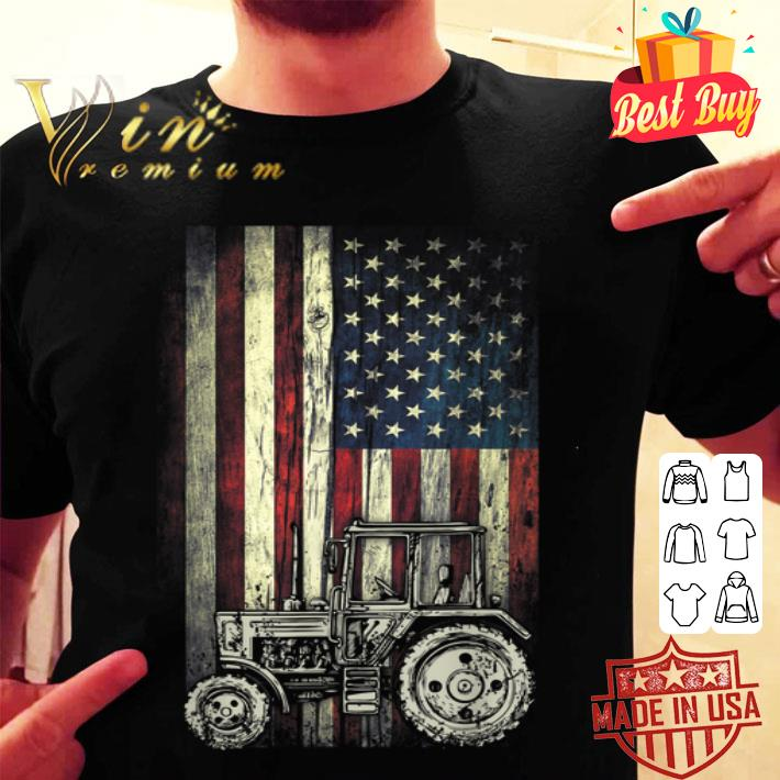 - Tractor American Flag USA Patriotic shirt