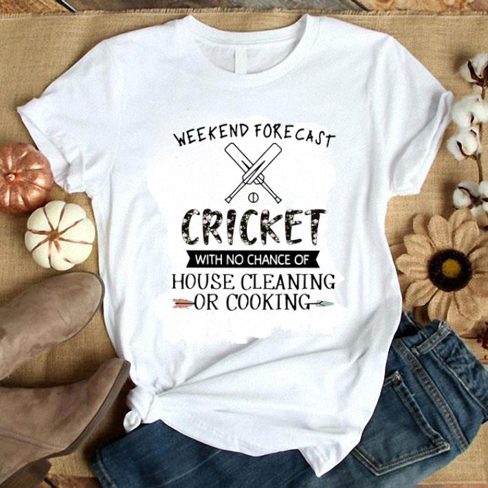 Clickbuypro Unisex Tshirt Weekend Forecast Cricket With No Chance Of House Cleaning Flower Shirt Hoodie Black S