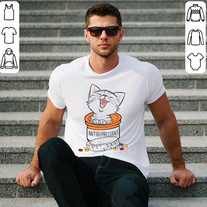 - White Cat funny Antidepressant shirt