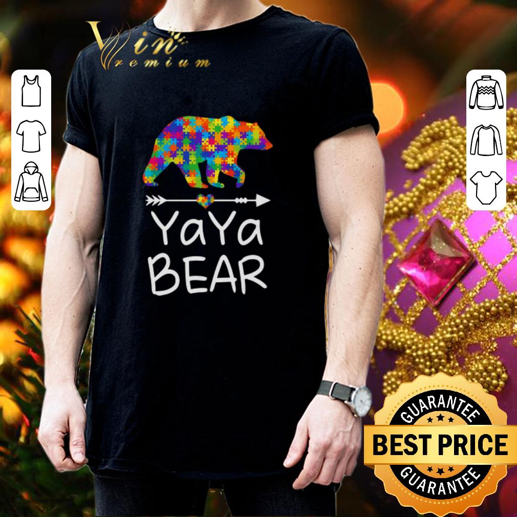 YaYa Bear Autism Awareness shirt 3