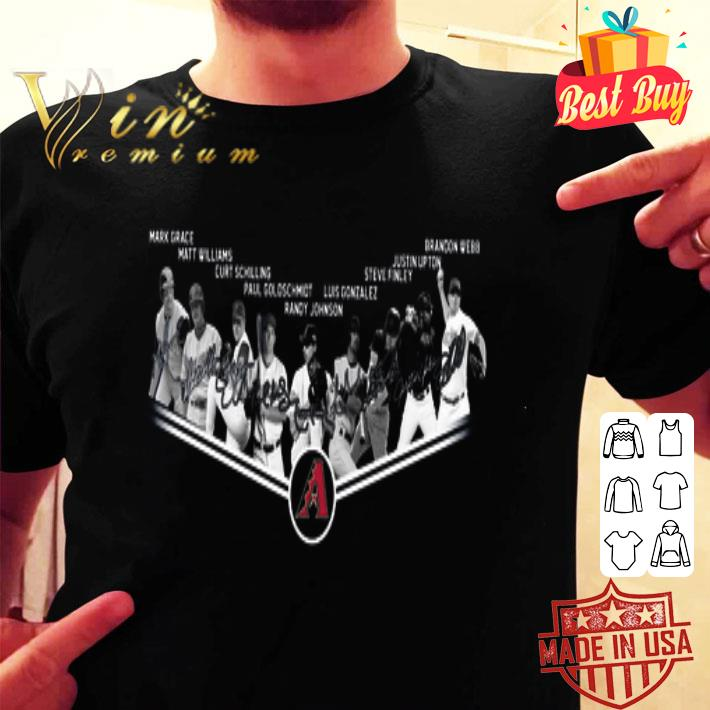 Arizona Diamondbacks legends never die signatures shirt