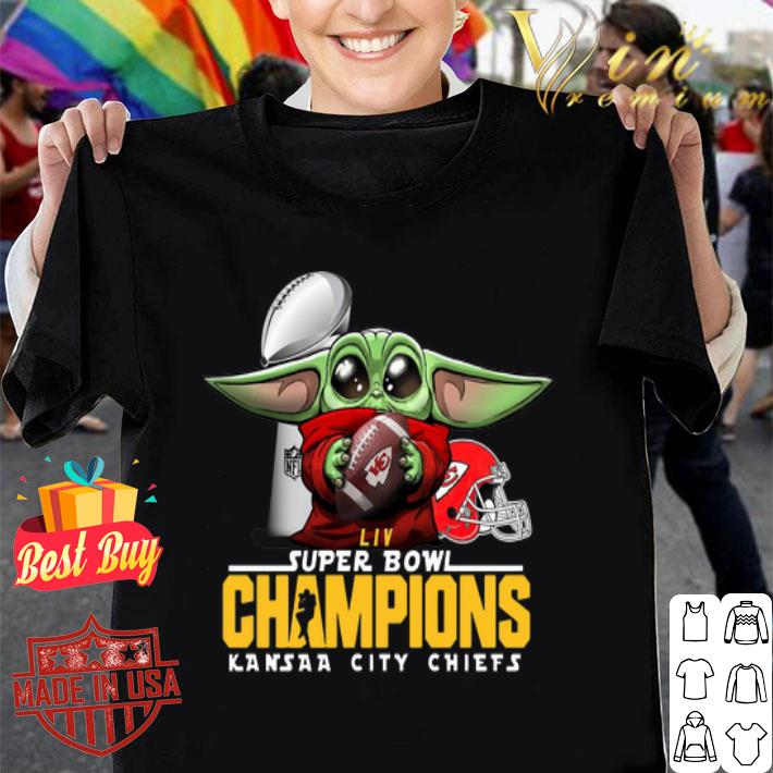 - Baby Yoda Hug Kansas City Chiefs Super Bowl Champions Star Wars shirt