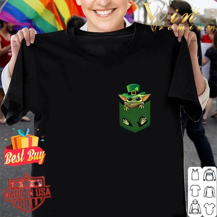 Baby Yoda St patrick's day pocket shirt