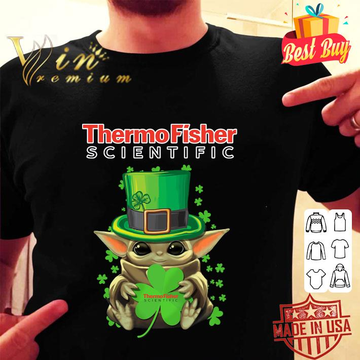 - Baby Yoda Thermo Fisher Scientific St.Patrick's Day Star Wars shirt