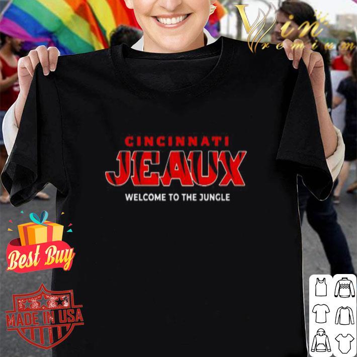 Cincinnati Jeaux welcome to the jungle shirt