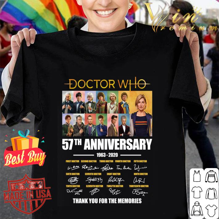 Doctor Who 57th Anniversary 1963-2020 signed thank for memories shirt