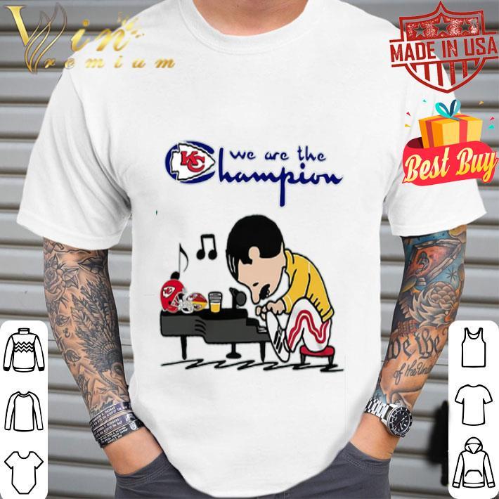 - Freddie Mercury We Are The Champion Kansas City Chiefs shirt