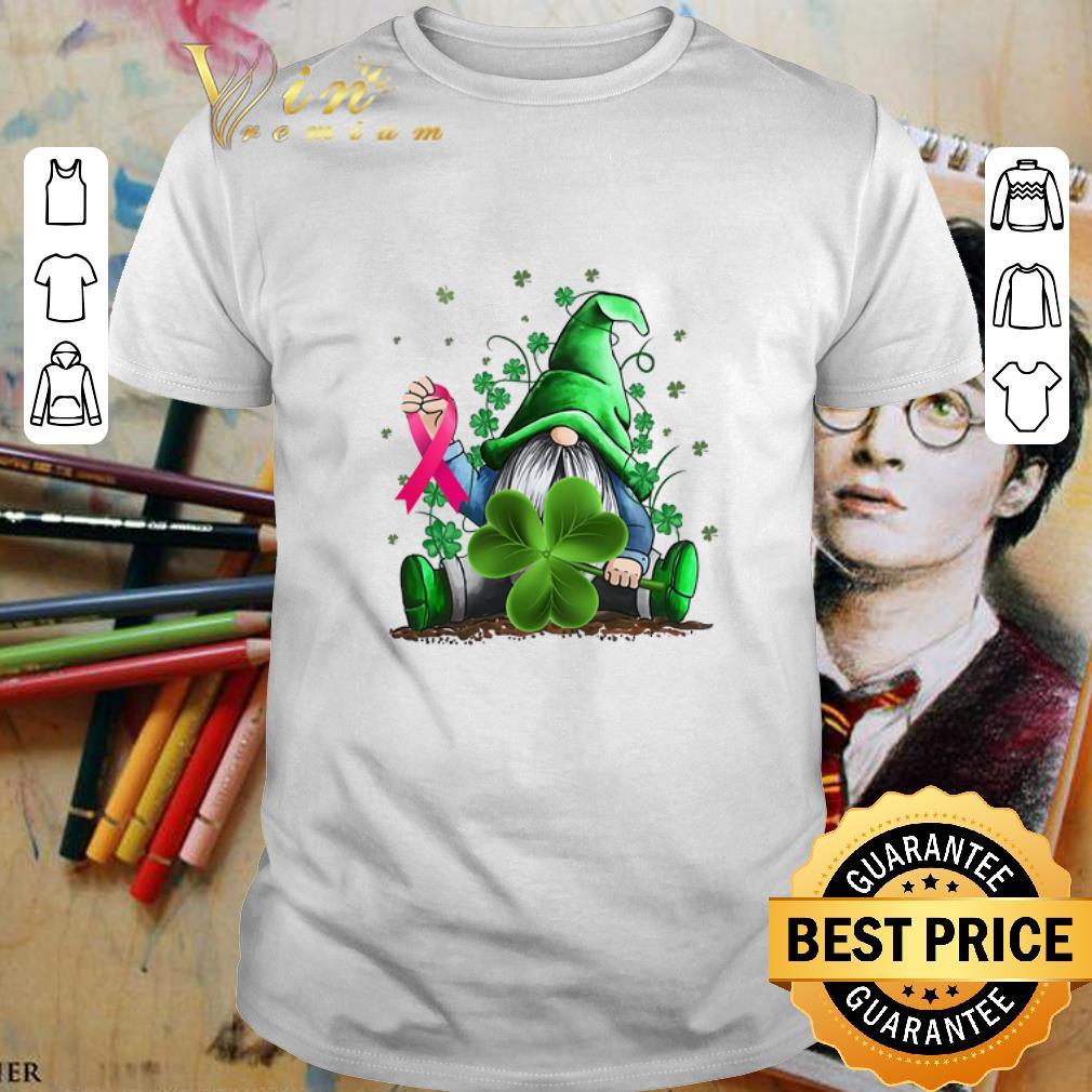 Gnome Shamrock Breast Cancer Awareness Irish St. Patrick's day shirt 1