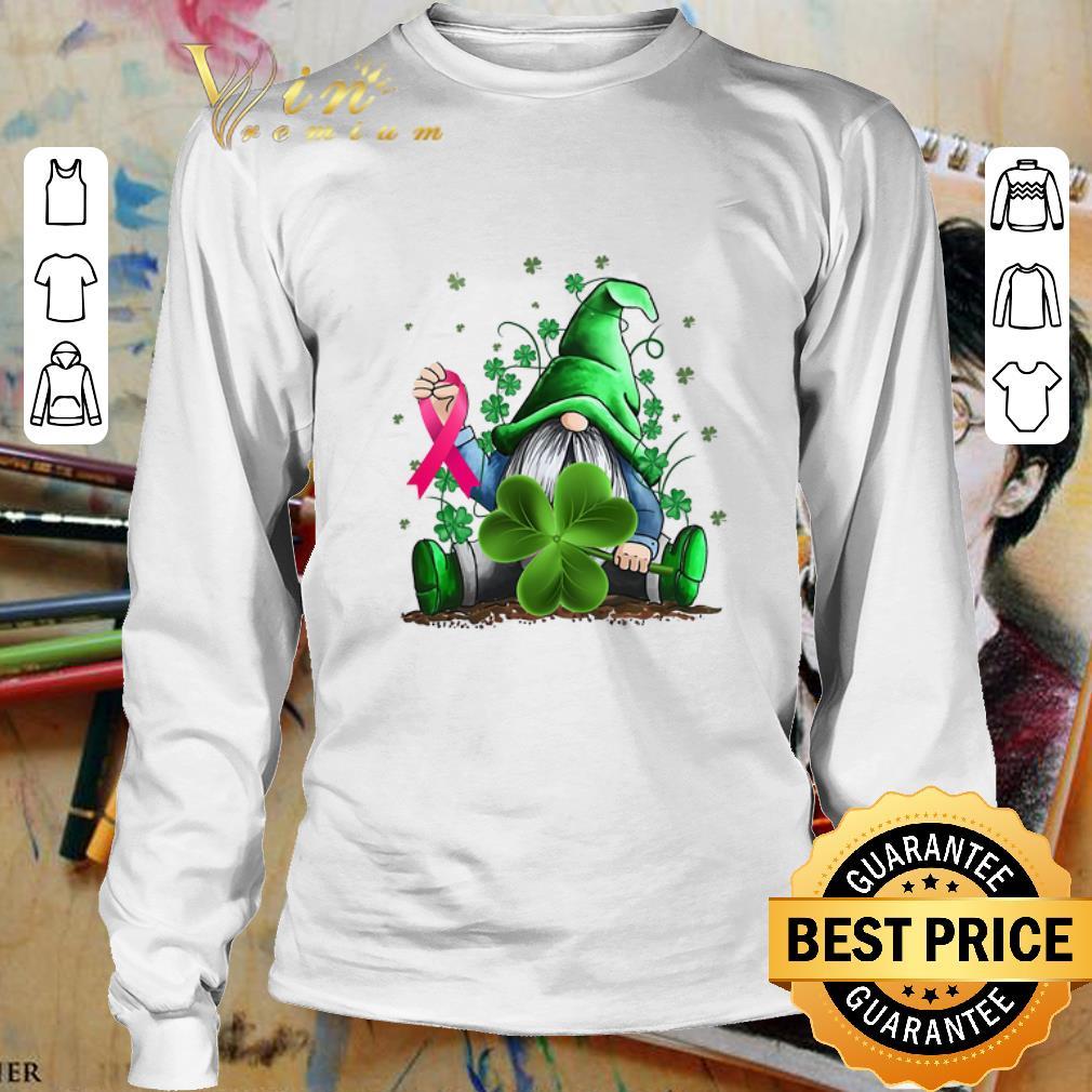 Gnome Shamrock Breast Cancer Awareness Irish St. Patrick's day shirt 3