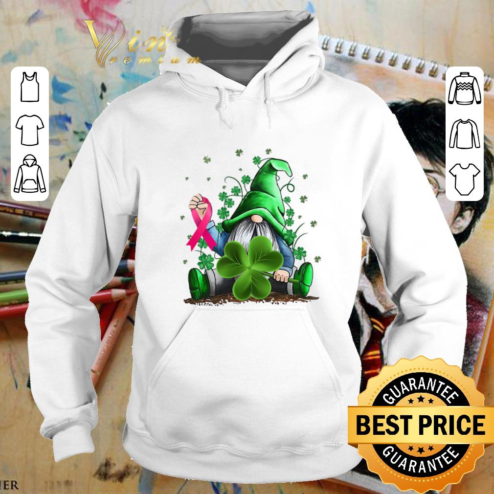 Gnome Shamrock Breast Cancer Awareness Irish St. Patrick's day shirt