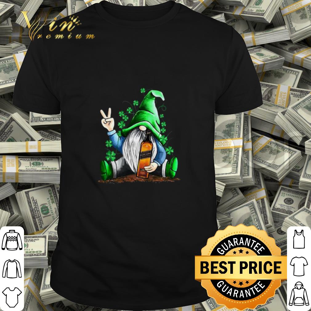 Gnome and Johnnie Walker shamrock St Patrick's Day shirt