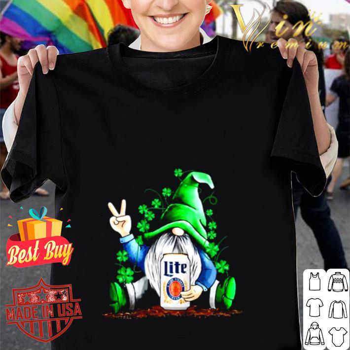Gnome hug Miller Lite Irish St. Patrick's day shirt