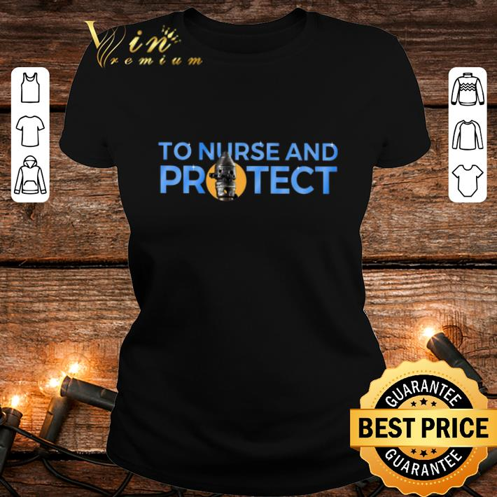 - IG-11 to nurse and protect Mandalorian Star Wars shirt