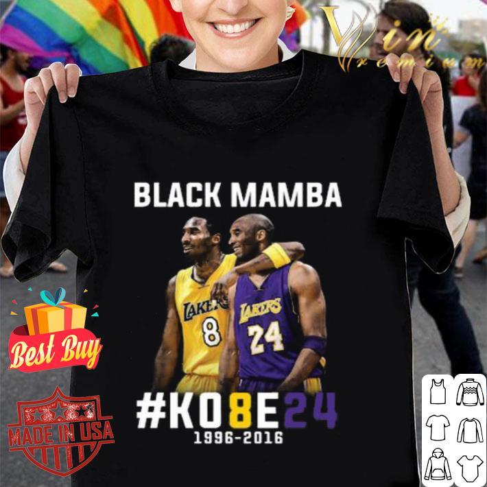 - Kobe Bryant Black Mamba K08E24 1996 - 2016 Los Angeles Lakers shirt