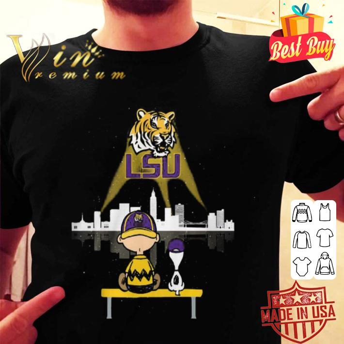 - LSU Tigers Logo Snoopy and Charlie Brown shirt