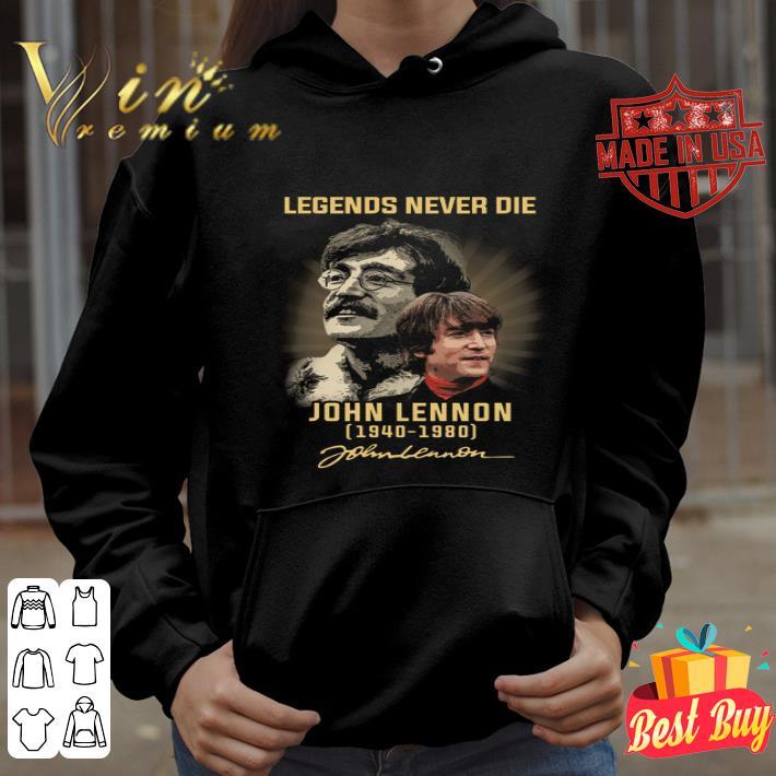 Legends Never Die Signature John Lennon 1940-1980 shirt
