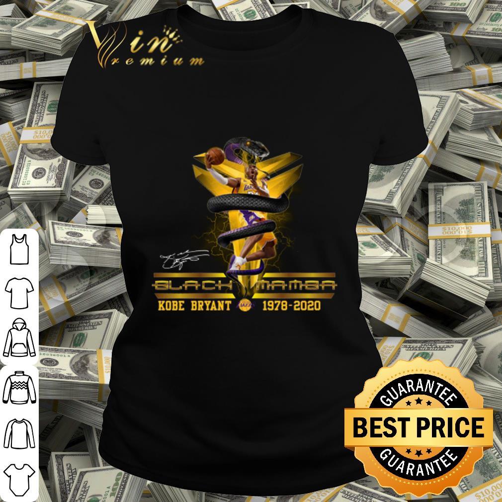 - Logo Black Mamba Kobe Bryant Los Angeles Lakers 1978-2020 signature shirt