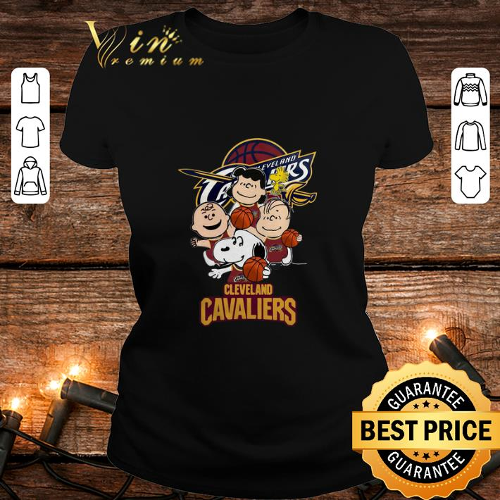 - Peanuts characters Cleveland Cavaliers logo shirt