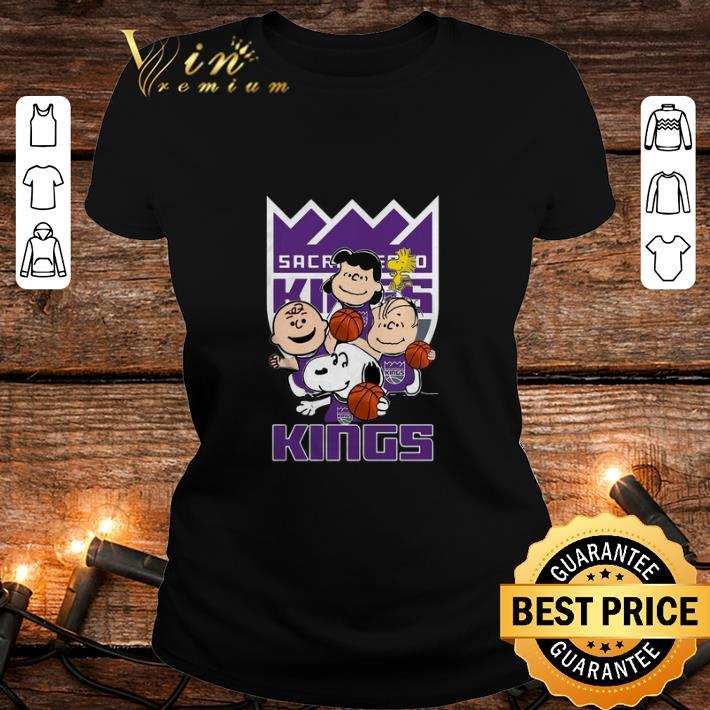 - Peanuts characters Sacramento Kings logo shirt