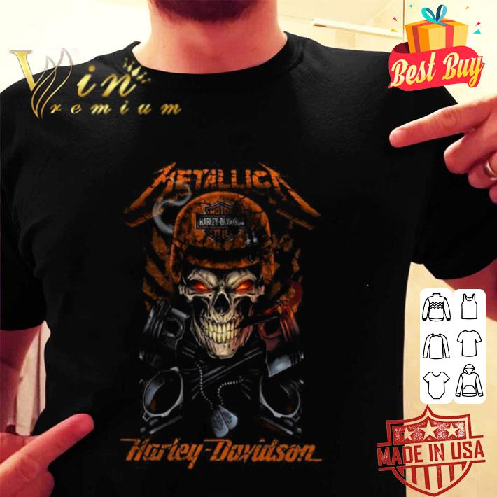 Piston Skull Metallica Harley Davidson shirt