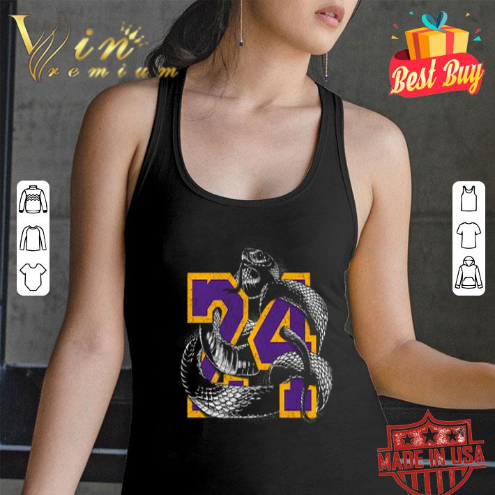 RIP 24 Kobe Bryant The Black Mamba snake shirt