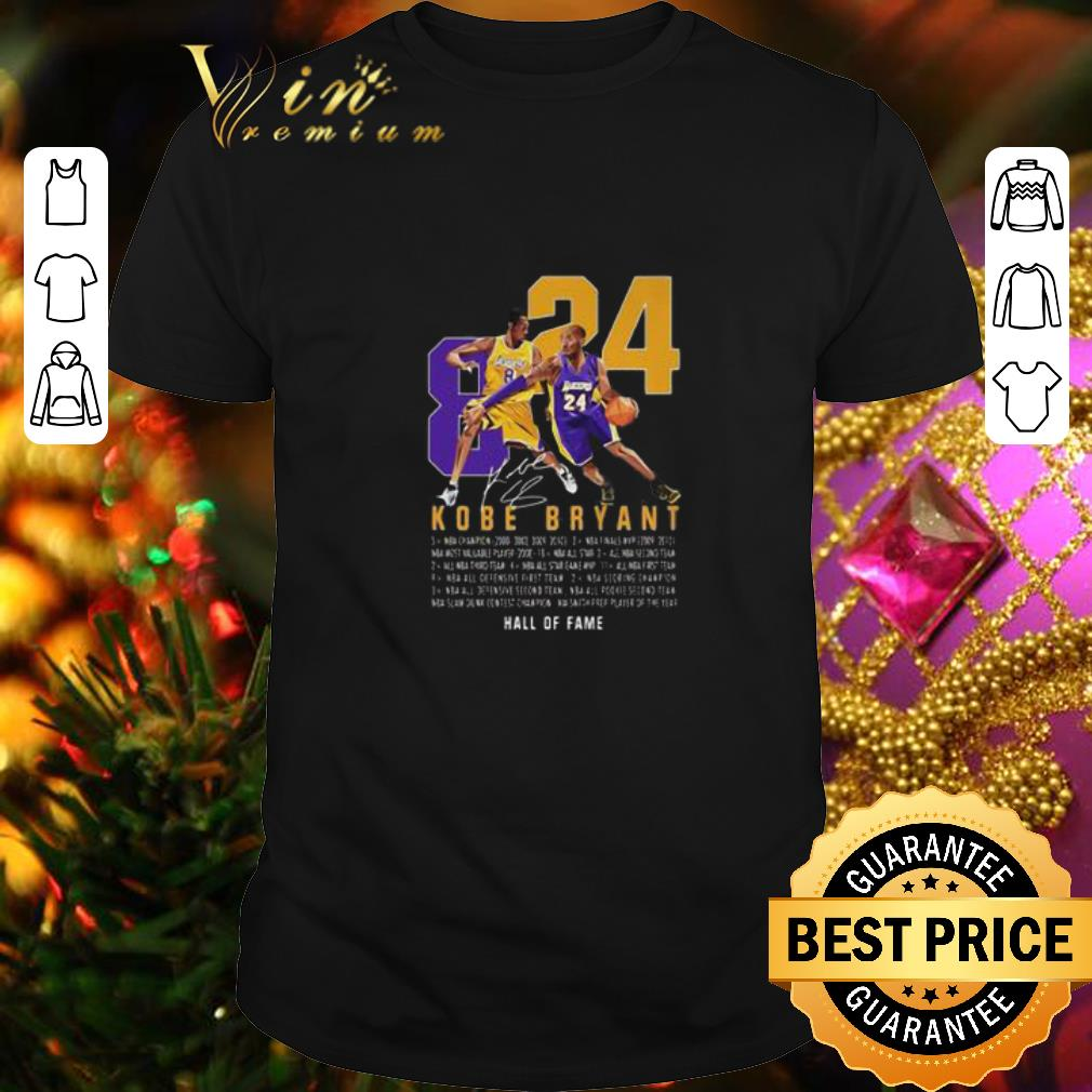 RIP King Kobe Bryant Legend Signature 8 24 Legends Never Die shirt 1