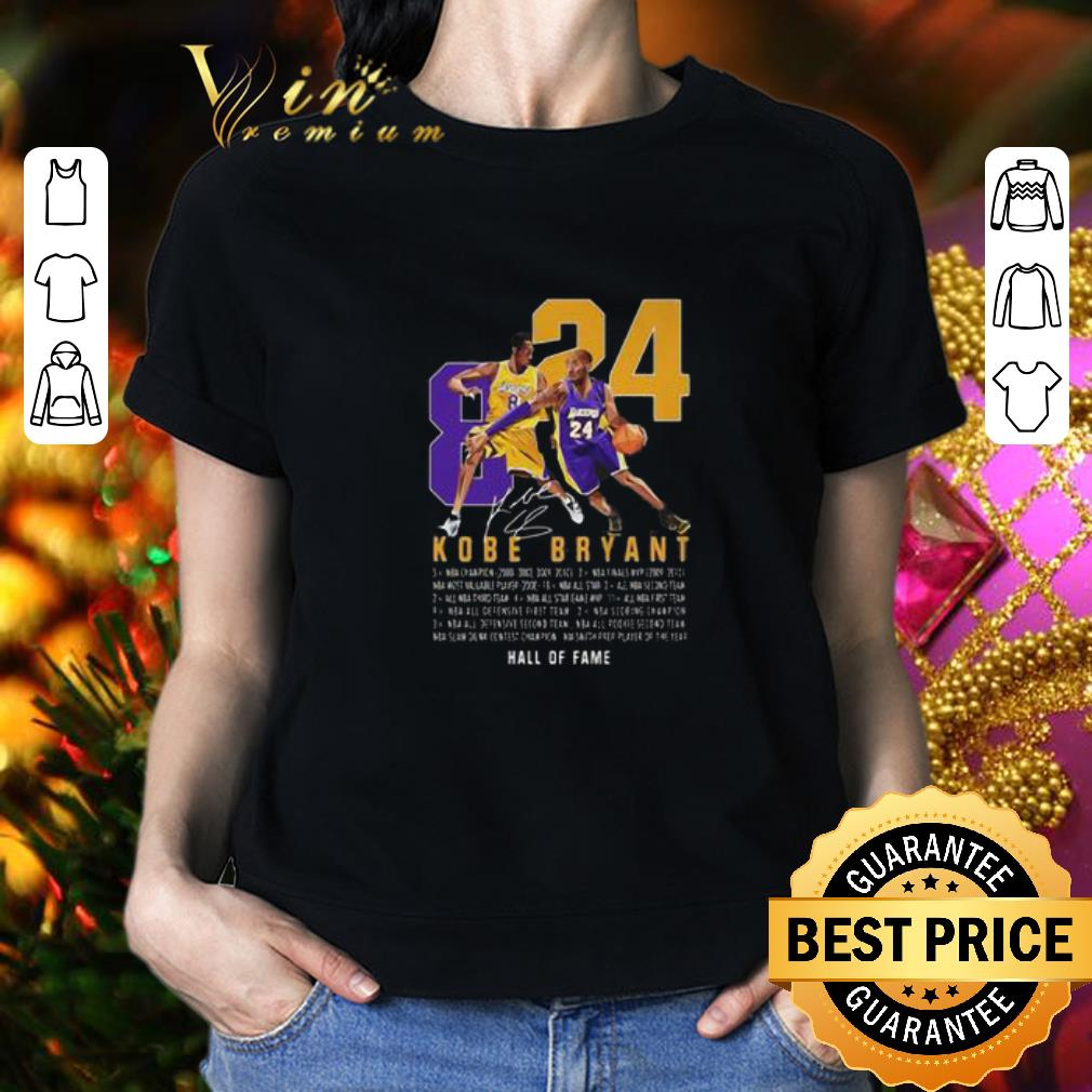 RIP King Kobe Bryant Legend Signature 8 24 Legends Never Die shirt 2