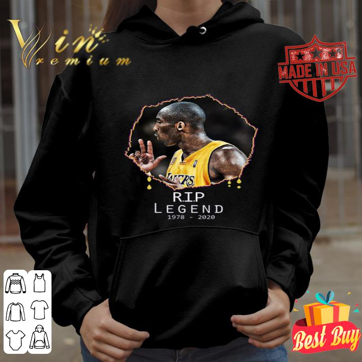 Rest In Peace Kobe Bryant R.I.P Legend 1978 2020 shirt