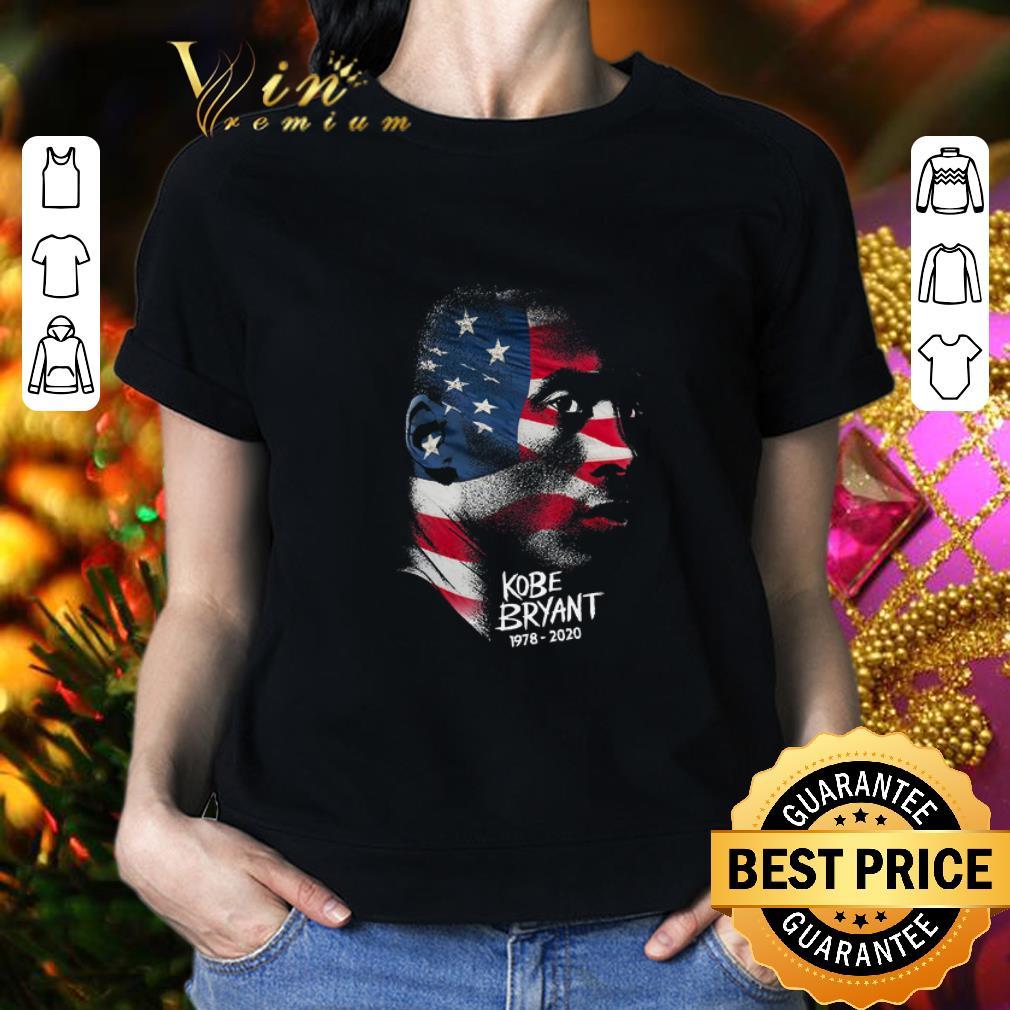 - Rip Kobe Bryant 1978 2020 American flag shirt