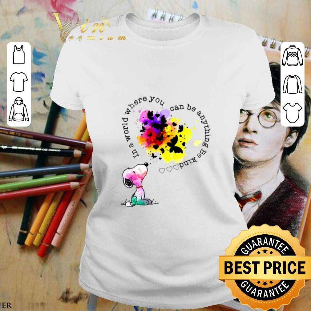 - Snoopy colors in a world where you can be anything be kind shirt