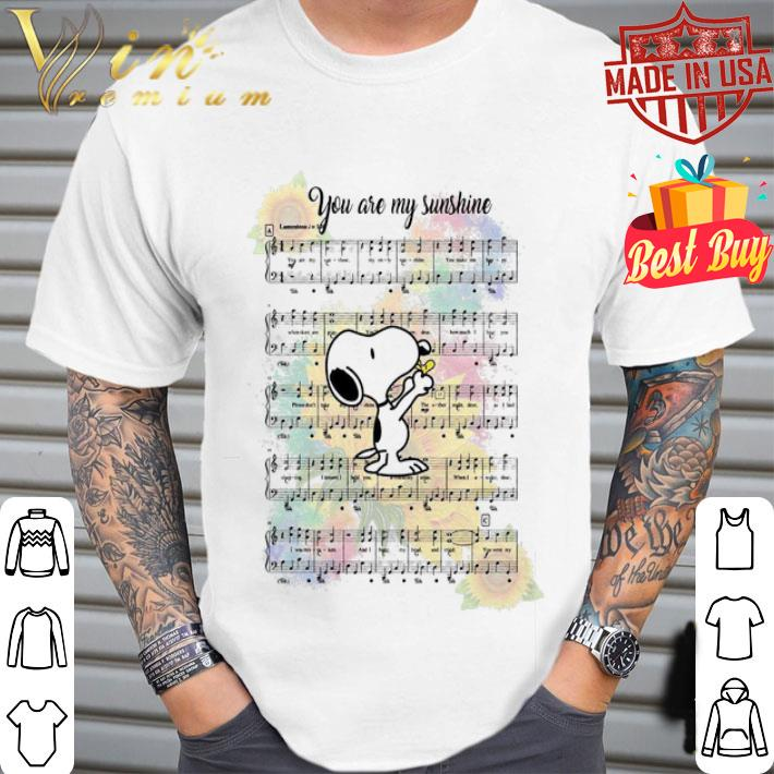 - Snoopy you are my sunshine note music shirt