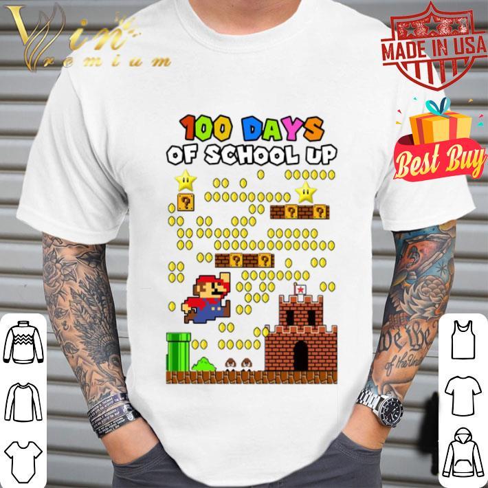 Super Mario 100 days of school up shirt