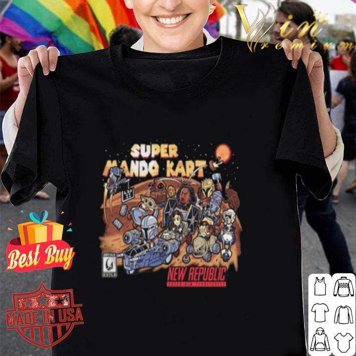 - Super mario kart new republic The Mandalorian shirt
