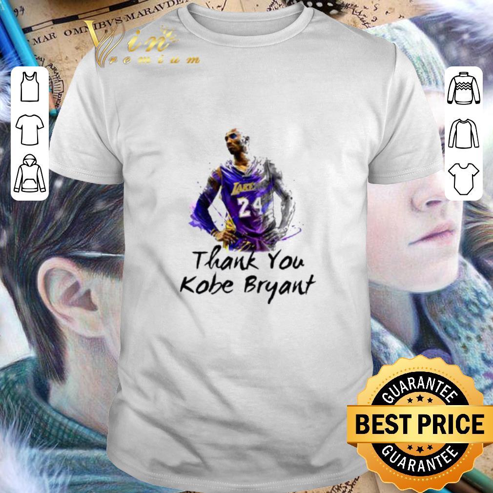 - Thank You Kobe Bryant 24 RIP Lakers shirt