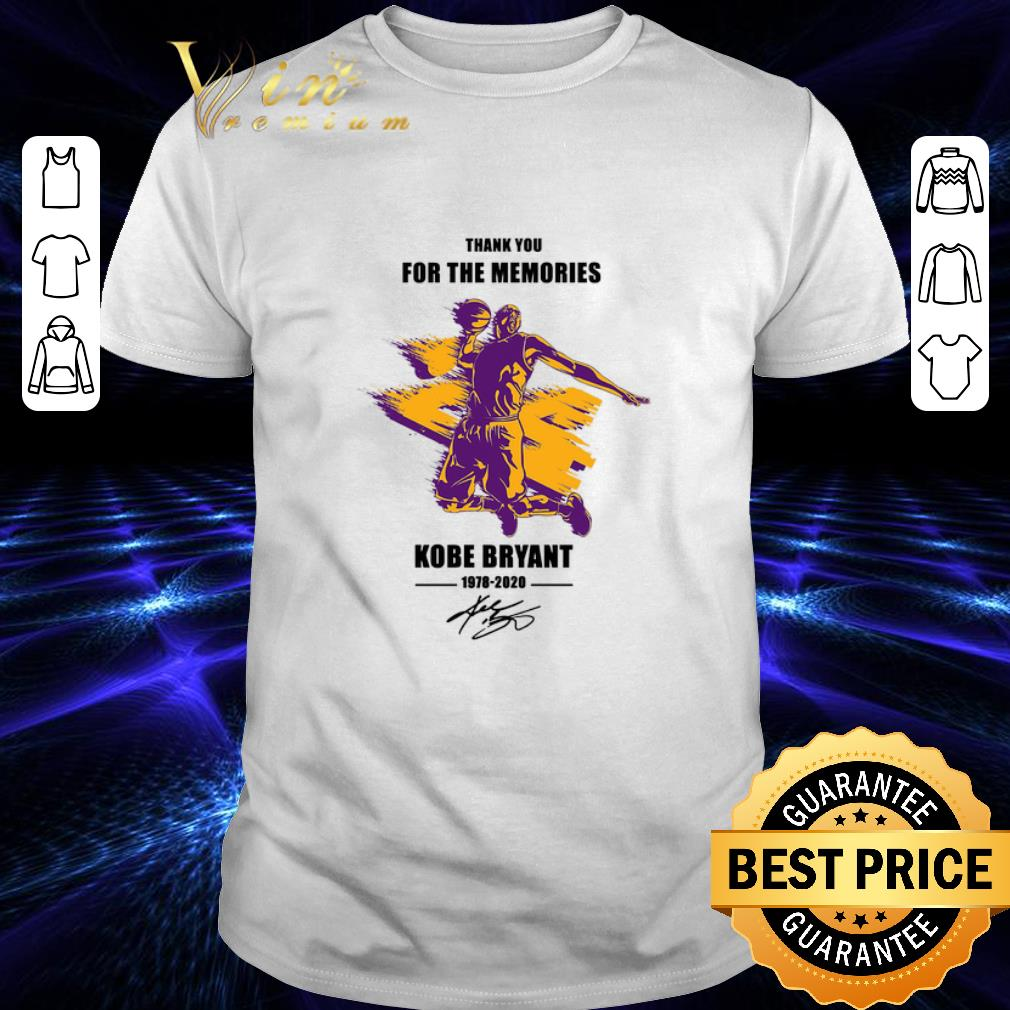 - Thank you for the memories 24 RIP Kobe Bryant 1978 2020 signed shirt